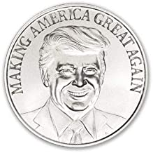 1 oz 999 Silver Trump Make America Great Again Round