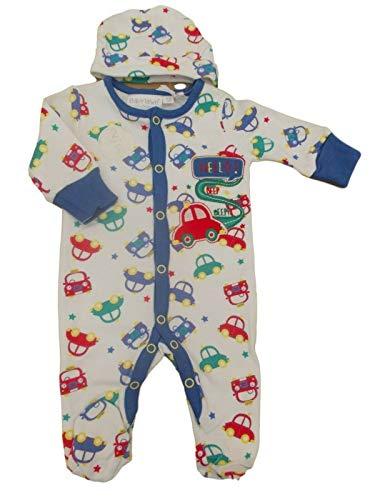BNWT Grenouillère et bonnet en coton pour bébé prématuré prématuré - Bleu - jusqu'à 3.18 Kg