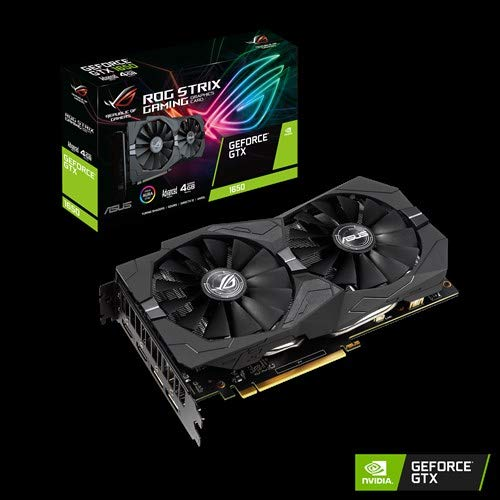 ASUS ROG STRIX NVIDIA GeForce GTX 1650 Advanced 4G Gaming Grafikkarte (PCIe 3.0, 4GB DDR5 Speicher, HDMI, DVI, Displayport)