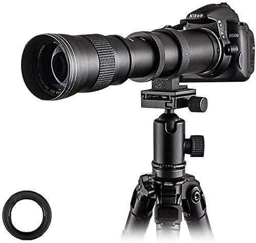 Venidice 420-800 mm F8.3 Teleobjetivo Zoom Objetivo, Enfoque Manual con Montaje en T para Nikon D5500 D3300 D3200 D5300 D3400 D7200 D750 D3500 D500 D600 D700 D850 D50 100 Camas. era, tela Venidice