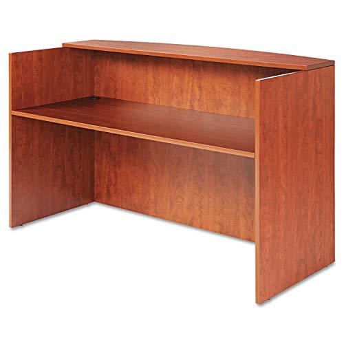 Alera Valencia Series Reception Desk w/Counter, 71w x 35 1/2d x 42 1/2h, Cherry