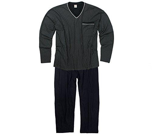 ADAMO Schlafanzug Langarm – in dunkelblau/Navy – größe Größen – bis 9XL