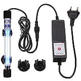 POPETPOP 1 Juego de Lámpara de Eliminación de Algas para Tanques de Peces Luz Esterilizadora UV para Acuario (Enchufe de La)