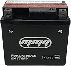 MMG High Performance Powersports 12v Battery, Compatible with YTX5L-BS PTX5L-BS CTX5L-BS