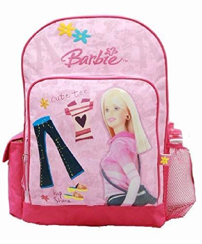 Barbie Cute Pink Large 16 inches School Bag Backpack