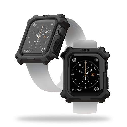 Urban Armor Gear Apple Watch Hülle für Apple Watch Series 5 (44mm) und Apple Watch Series 4 (44mm) (Rugged Case mit Snap-On-Design) - schwarz