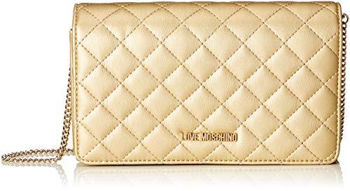 Love Moschino Borsa Nappa Pu Quilted - Borse a spalla Donna, Oro, 6x13x23 cm (B x H T)