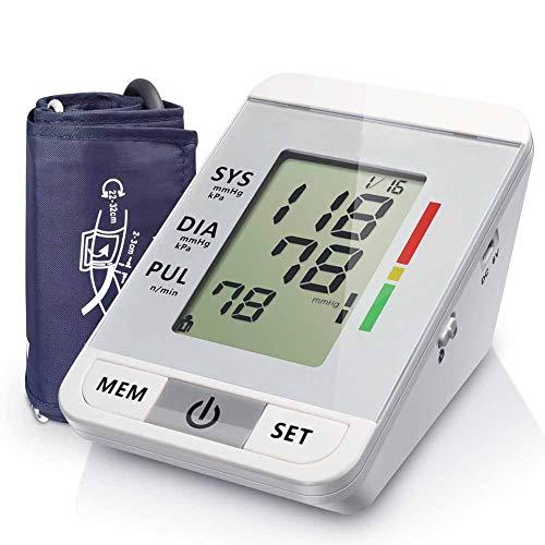 WANGXN Blutdruckmessgerät Oberarm Digital Blutdruckmaschine Mit Großer LCD-Anzeige