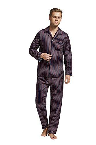 TONY AND CANDICE Herren flanell-pyjama-set aus 100% baumwolle langarm nachtwäsche...