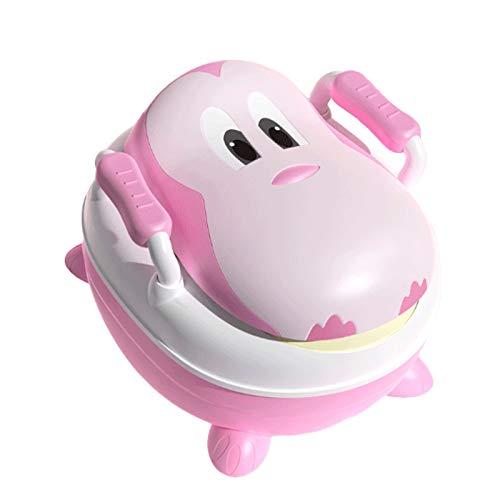Toilette per Vasino con Schienale Rialzato E Coperchio Ribaltabile Rinforzato Durevole Antiscivolo Design Diviso Orinatoio Rosa