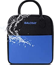 BALORAY Lunch Bag Leakproof Adult Insulated Lunch Box Cooler Reusable Multi-functional Lunch Tote Organizer Cooler Storage Bag Insulated Lunch Pail Lunch Box for Work,Picnic,Travel(Black)