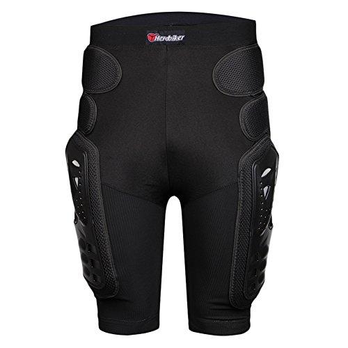Fastar Cojin de Proteccion Extremo de Cadera - Motocross Racing Motorcycle Body Armor Protección Gears Pantalones Cortos (Negro, XXL)
