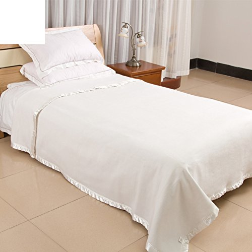 LAWQTVCDHJY Modern Minimalist Style Solid Color Thickened Double Layer 100% Cotton Blankets-A 80x120cm(31x47inch)