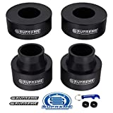 Supreme Suspensions - Full Lift Kit for 1999-2004 Grand Cherokee WJ 2.5' Front + 2.5' Rear Suspension Lift High-Density Delrin Spring Spacers 2WD 4WD (Black)