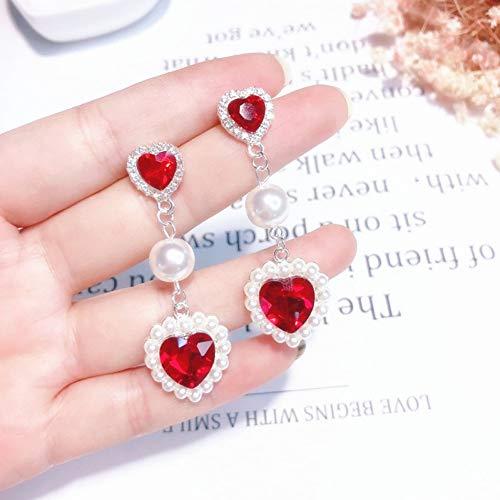 JINGM Boucles d'oreilles en Cristal À La Mode pour Les Accessoires De Fête pour Femmes Perle Simulée