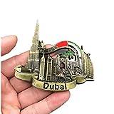 Bella Imanes para Refrigerador Fridge Magnet Sticker Frigerator Imán Viaje Metal Souvenir Dubai Burj Khalifa Tower Burj Al Arab Atlantis The Palm Camello Decor Regalo