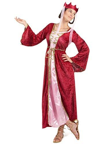 DEGUISE TOI Déguisement Rouge Reine médiévale Femme - Small