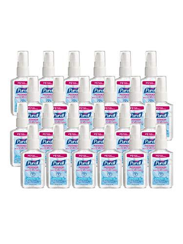 Advanced Hand Sanitizer Refreshing Gel, Clean Scent, 2 oz Personal Pump Bottle, 24/Carton