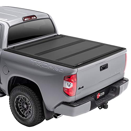"""BAK BAKFlip MX4 Hard Folding Truck Bed Tonneau Cover   448409T   Fits 2007 - 2021 Toyota Tundra w/ OE track system 5' 7"""" Bed (66.7"""")"""