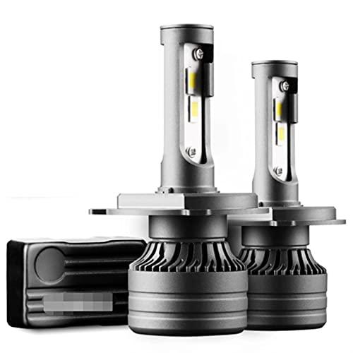 GCS Gcsheng 2pcs H4 LED 30000LM 100W Luz del Coche CA/NBUS H4 H7 H8 H11 H1 9005 9006 HB3 HB4 LED Faro para la lámpara de Coche Bulbos de Turbo Auto