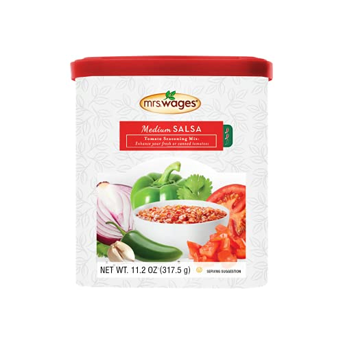 Mrs. Wages Medium Salsa Canning Mix Canister, 11.2 Oz Canister (Pack of 1)