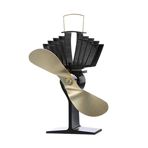 Ecofan 812AMBBX AirMax Large Heat Powered Wood Stove Fan, Made in Canada, Gold