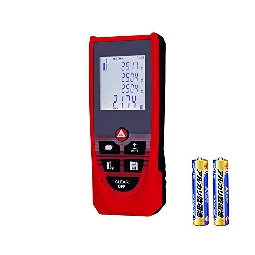 [ザイオン] レーザー距離計 100m 防水 防塵 高精度 メモリー機能搭載 多機能 (100M)