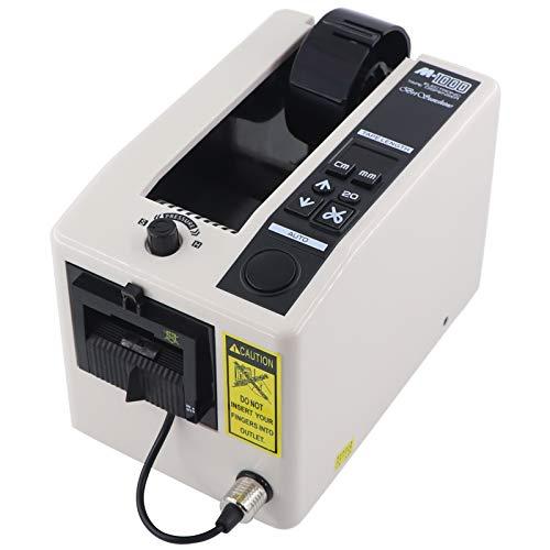 電動テープカッター 作業効率UP M1000自動テープディスペンサー 業務用 電子テープカッター 高速電動テープカッター 梱包用 物流用 オフィス用 日本語取扱説明書付き