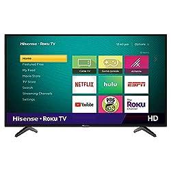 Hisense 32-Inch Class H4 Series LED Roku Smart TV with Alexa Compatibility (32H4F, 2020 Model)