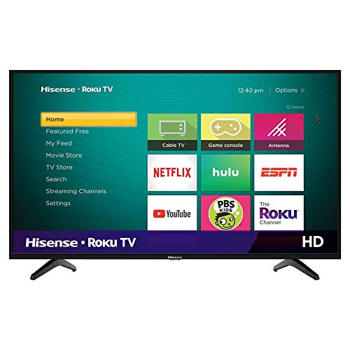 Hisense 40H4F 40-Inch LED Roku Smart TV with Alexa and Google Assistant Compatibility (2020)