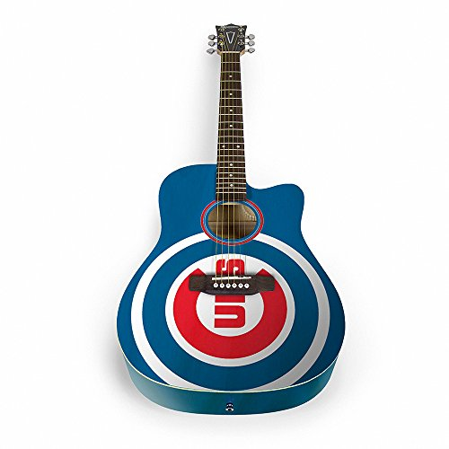 The Sports Vault MLB Chicago Cubs ACMLB05Acoustic Guitar, Multi, One Size