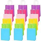 LovesTown Bolsas de regalo coloridas, 18 bolsas de papel de colores para fiestas de cumpleaños o bodas y fiestas