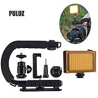 Baugger U字型カメラホルダーすべてのSLRカメラおよびホームDVカメラ用のポータブルハンドヘルドDVブラケットスタビライザーキット