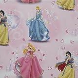 Deluxe Disney Príncipe/Princesa 1x pieza, cortina de 250 cm de longitud y 140 cm de ancho, color rosa/negro