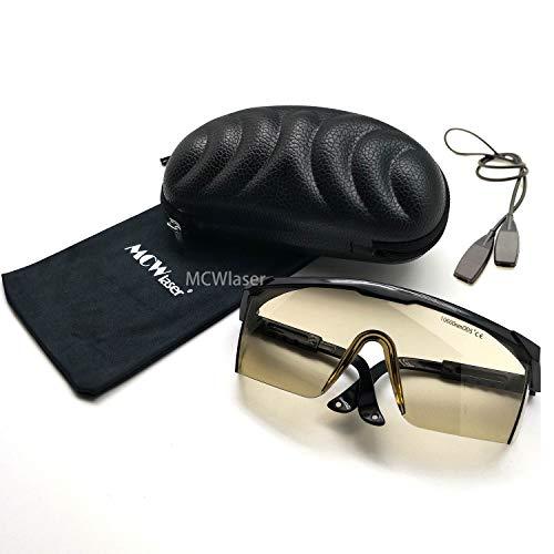 MCWlaser Gafas Protectoras de Seguridad con láser de CO2 Gafas 10600nm 10.6um Tipo de absorción CO2 Laser EP-4 Gafas para Grabado láser CO2 Cuttinge Instrumento de Tratamiento de Belleza
