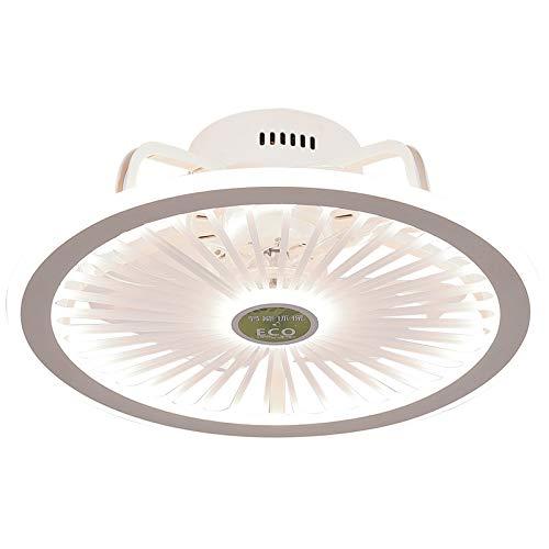 Ventilador de techo con luz, control remoto 3 engranajes, araña, ventilador, araña regulable del dormitorio, araña con ventilador, colgando niños, blanco