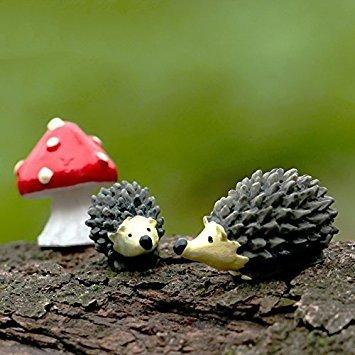BCletty Miniatur-Feengarten, Pilz-Heimdekoration, Igel, Outdoor-Dekor