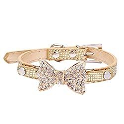 Lillypet Bling Rhinestone Pet Bow Tie Collar