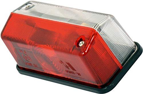 Feu de Gabarit Led Rectangulaire Rouge Blanc 12V ADNAuto