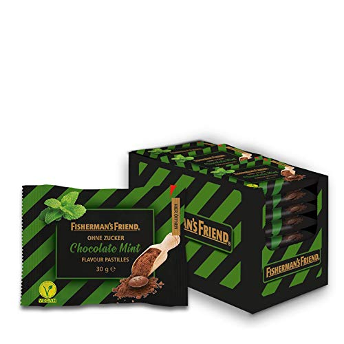 Fisherman's Friend Chocolate Mint: Schoko-Minz Pastillen, 20 Zip-Lock Beutel à 30g, zuckerfrei