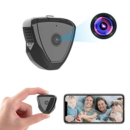 Mini Spy Camera WiFi, HD 1080P Wearable Mini Spy Camera Hidden Camera Wireless with Live Stream Motion Detection Night Version, Nanny Cam Security Camera for Home Indoor Outdoor