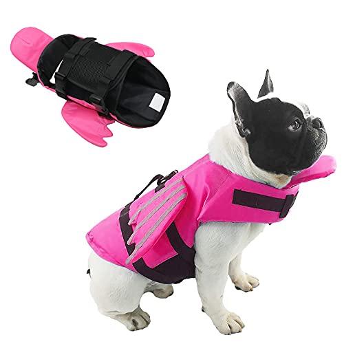SILD Color Pet Giubbotto Taglia Regolabile Sicurezza Cane salvagente Gilet Riflettente Pet Dog Vita Conservatore Saver Life per Nuoto Surf Caccia (Rosa, S)