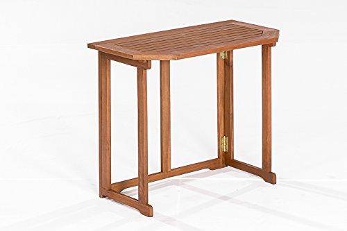 gartenmoebel-einkauf Klappentisch Linz 90x51cm aus Eukalyptus Holz, FSC®-Zertifiziert