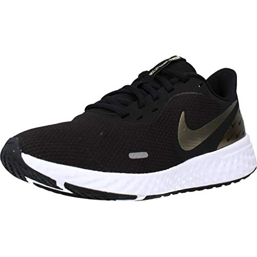 Nike Revolution 5 Premium black/metallic gold grain