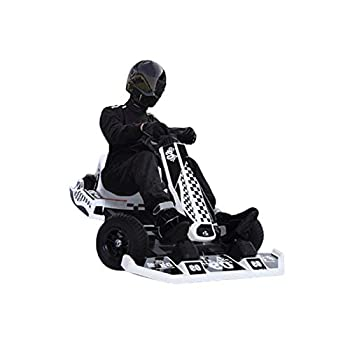 DD-upstep Go Kart - Outdoor Race Pedal Go Karting Car for Kids and Adults - Adjustable Wheel Height - with Flashing Lights and Emergency Off String Brake Merchanical Hand Brake