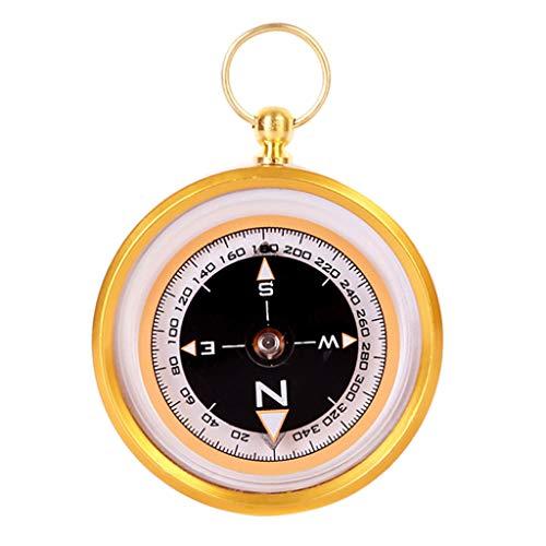 Kamonda Bússola de liga de alumínio para uso externo, magnético, orientação, navegação prática, bússola de liga de alumínio, ouro