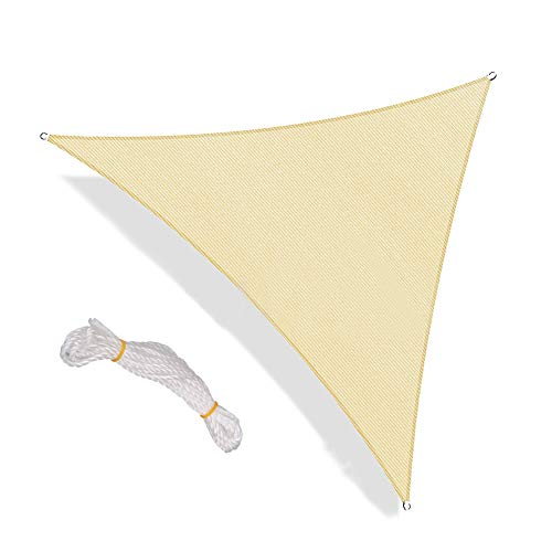 JIESD-Z driehoek zonwering zeilen anti-UV waterdichte stof luifel patio tuin luifel 12x12x12ft Lichtgeel