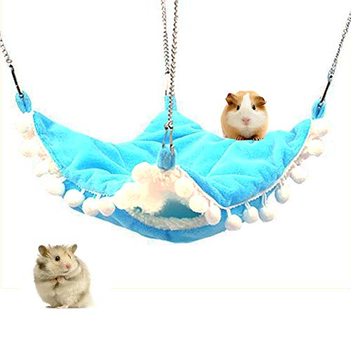 Kleine dieren Warm Fleece Ophanging, Triple Stapelbed Hangmat Polka Dot kooi Hideout Bed voor Sugar Glider Ferret Eekhoorn