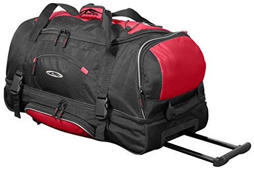 Reisetasche 106L XXL mit Rollen Trolley Jumbo Tasche Reise Koffer Sporttasche Rhodos Rot