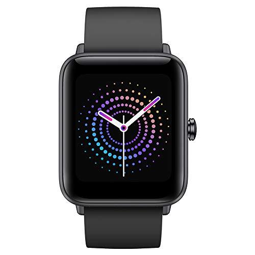 Ulefone Watch Pro - 40 Tage Akkulaufzeit, 5ATM wasserdichte Smartwatch, 1,55' Retina-Bildschirm, Fitness Tracker mit Herzfrequenzmesser, Blutsauerstoff-Monitor/Stressüberwachung, Armband Schwarz